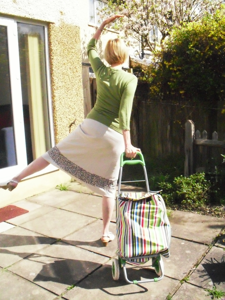 Demonstrating the new Trolley Dance