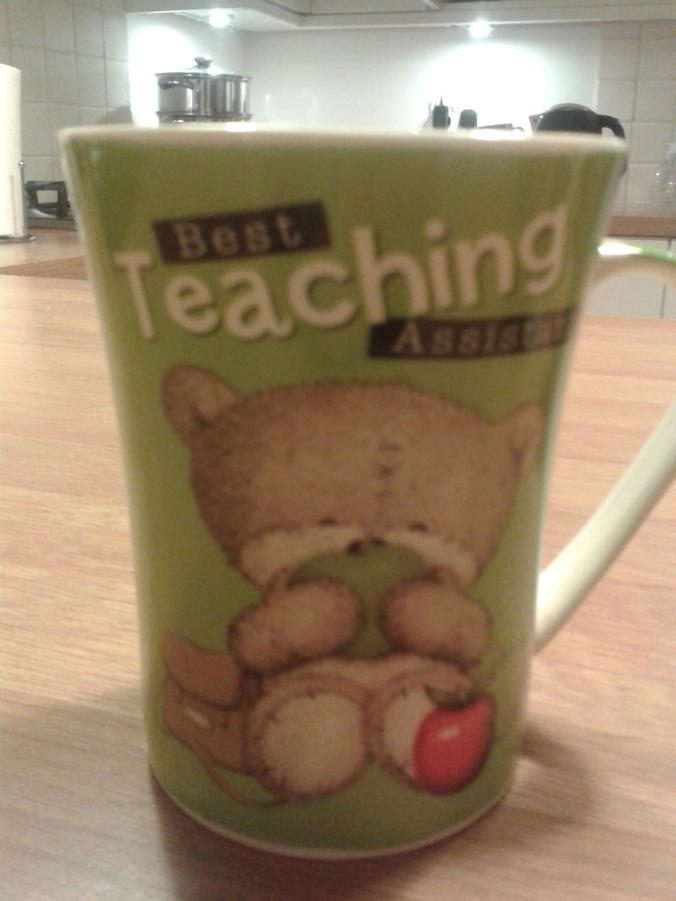 """I'm actually quite fond of this one. A child bought it for me because they'd run out of Best Teacher ones. I said """"What is they'd had Second Best Teacher ones? He said that would've been fine as actually his Reception teacher had been the favourite"""